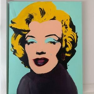 Pop art painting- painted w acrylics on canvas
